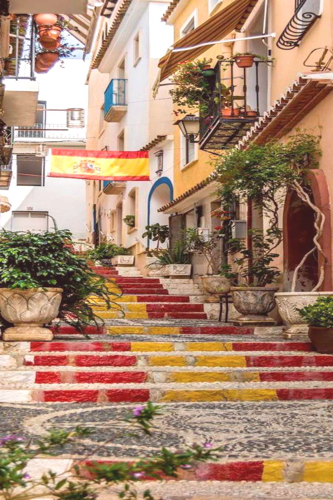 ; Streets in Calpe Old Town in Marina Alta - Alicante   Spain