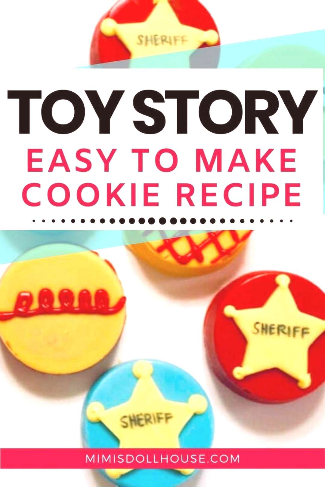 Toy Story Cookies you can make with your kids! Perfect for a Toy Story inspired birthday
