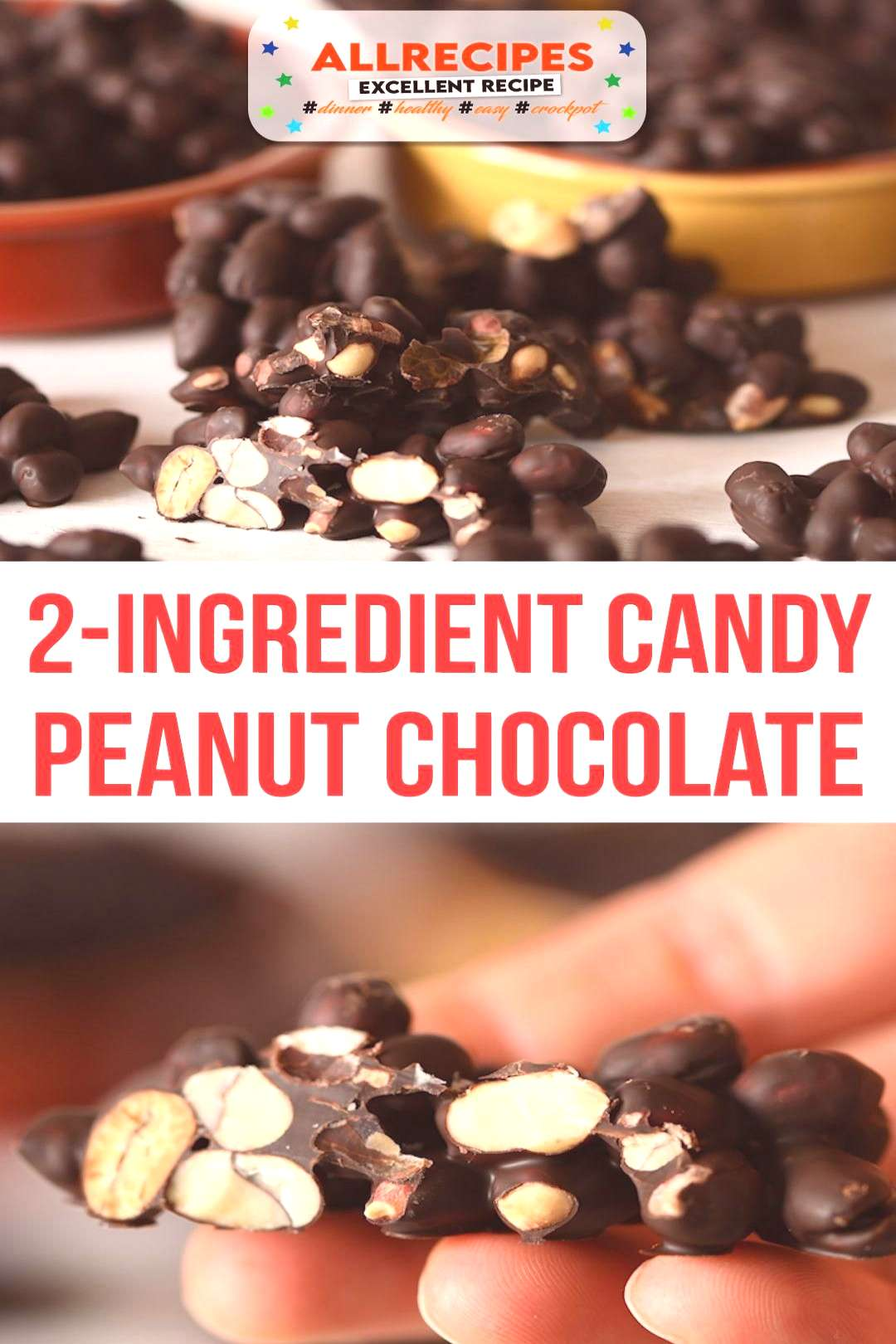 2-ingredient Peanut Chocolate Candy - - 2 Ingredient Peanut Chocolate candy can be made in a few mi