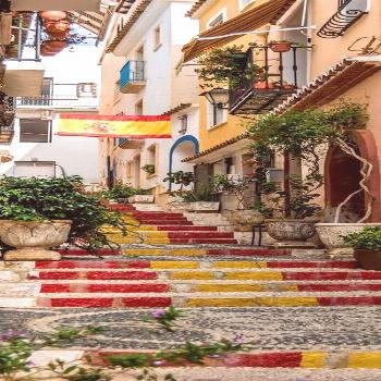 ; Streets in Calpe Old Town in Marina Alta - Alicante | Spain