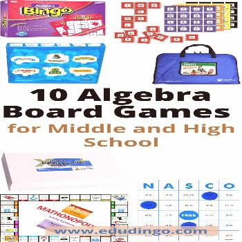 10 Algebra Board Games for Middle and High School Algebra can be a DAUNTING subject for high school