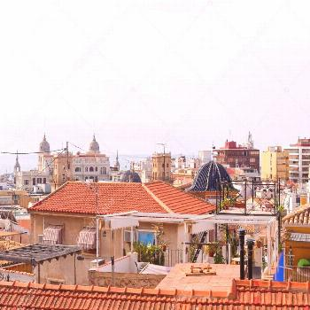 Aerial Panorama Beautiful City Alicante Spain - Stock Photo ,