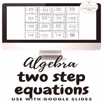 Algebra Solving Two Step Equations Puzzle for your students to practice solving two step equations.