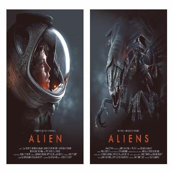 Alien movie cover science fiction space suit