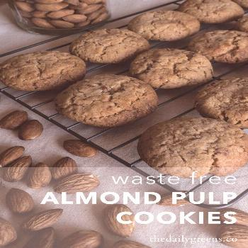 Almond Milk Pulp Cookies — Doubled recipe used 3/4 c butter, 3/4 cup coconut oil, coconut flour,