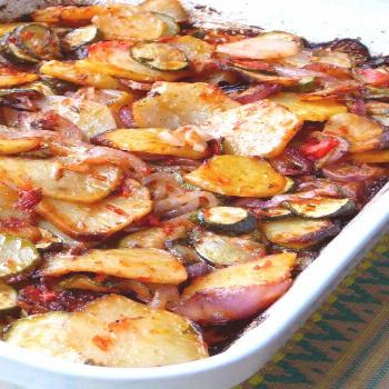 Briam (Greek Baked Zucchini and Potatoes) |