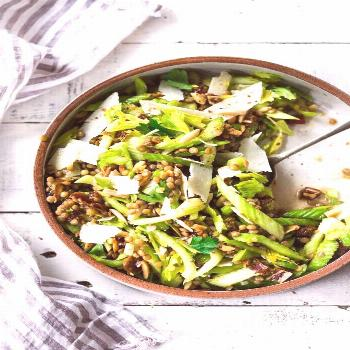 Celery Salad with Lentils, Dates and Almonds -