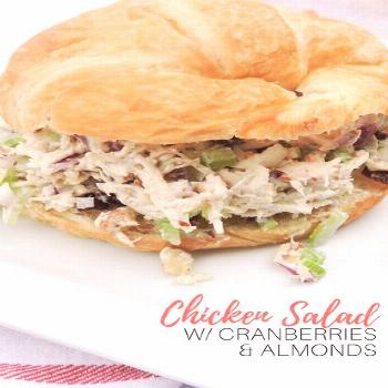 Chicken Salad With Dried Cranberries and Almonds -  -  FREAKING BEST chicken salad on Pinterest. Th