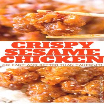 Chinese | Crispy Sesame Chicken is Tasty !!! You must see the complete recipes.