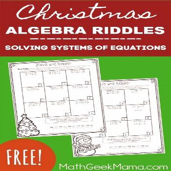 Christmas Riddles: Solving Systems of Linear Equations Activity {FREE} Looking for a simple yet eng