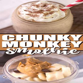 Chunky Monkey Smoothie is thick and creamy and makes the perfect quick breakfast or after school sn