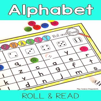 Click to see this alphabet letter recognition roll and read activity! These simple activities can b