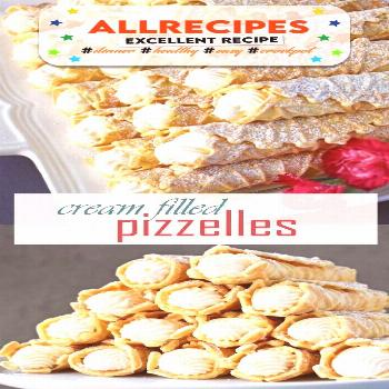 Cream Filled Pizzelles (Trubochki) - Olga in the Kitchen - - Creamy, elegant and beautifully shaped