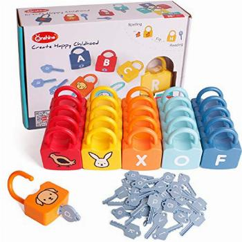 Dinhon ABC Learning Lock Educational Letter Combination-with