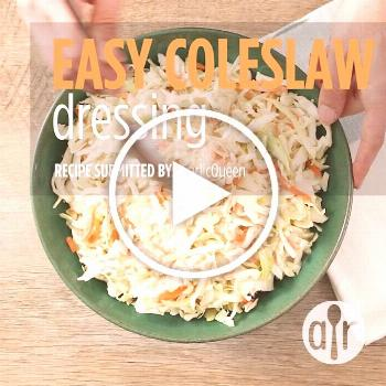 Easy Coleslaw Dressing   A creamy coleslaw dressing that can be made with ingredients you already h