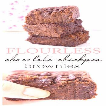 Flourless Chocolate Chickpea Brownies -  Craving something decadent? These Flourless Chocolate Chic