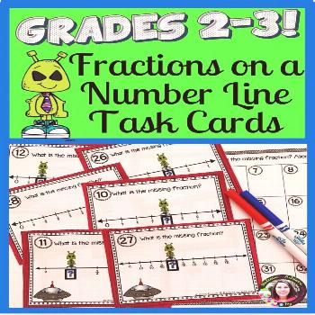 Fractions on Number Lines Task Cards: Alien Theme Are you looking for a fun way for students to pra