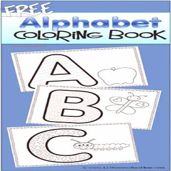FREE Alphabet Coloring Book - these are super cute alpahbet coloring sheets to help kids practice f