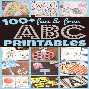 FREE Alphabet Printables 100+ Free ABC Printables -lots of alphabet worksheets, alphabet games, let