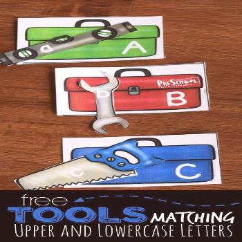 FREE Tools Upper and Lowercase Letters Matching - this is such a fun alphabet game to help toddler,