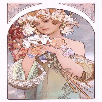 Fruit and Flower A Vintage Poster (artist: Mucha, Alphonse) (Art Prints, Wood & Metal Signs, Canvas