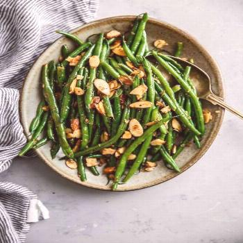 Green Beans Almondine (Green Beans with Almonds) - A Beautiful Plate Green Beans Almondine - this c