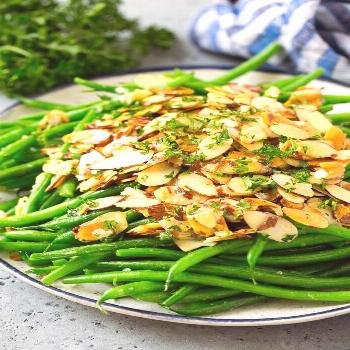 Green Beans Almondine Recipe | Green Beans with Almonds | Green Bean Recipe