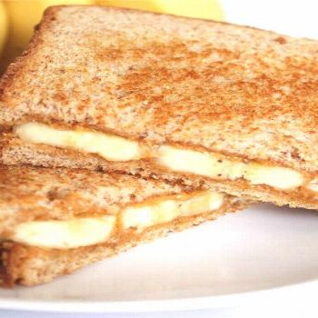 Grilled Peanut Butter and Banana Sandwich |