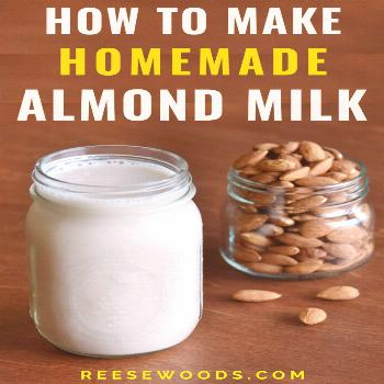 How to Make Almond Milk From Scratch - Reese Woods How to make almond milk from scratch. Does almon