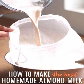 How to Make the Best Homemade Almond Milk! Now that I've learned how to make this amazing Homemade
