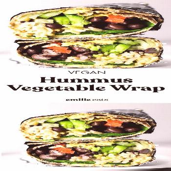 Hummus Vegetable Wrap – Emilie Eats -  This Hummus Vegetable Wrap is a great on-the-go lunch opti