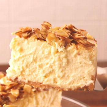 If you love almonds, you need this cheesecake. Get the recipe at . - -