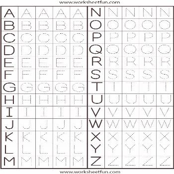 make a Printable Alphabet Letter Tracing Worksheets | Letter Tracing Worksheet ... - brooks1312 -