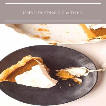 Maple Pumpkin Pie with Maple Whipped Cream for Thanksgiving Dessert! Plus, a recipe for flaky pie c