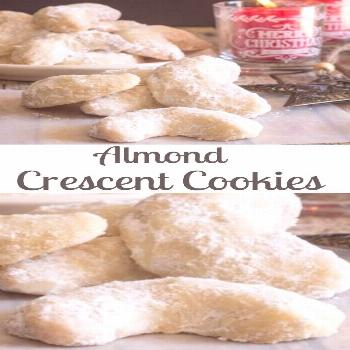 Maraschino Cherry Almond Chocolate Cookies Almond Crescent Cookies, almond, pecan or walnut these m