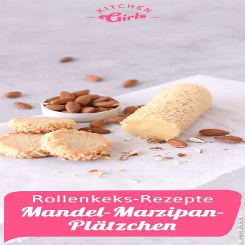 Marzipan cookies with almonds on a roll Cookies ... - BestBLog - -