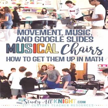 Math classroom activity students love music technology and math Google Slides middle school student