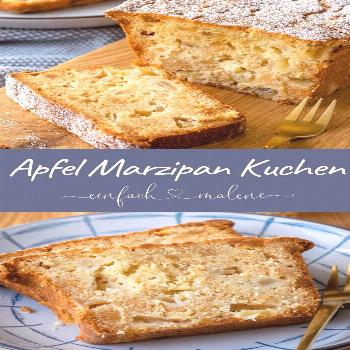 OMG, how delicious & juicy is this simple apple marzipan cake please? You must ... - -