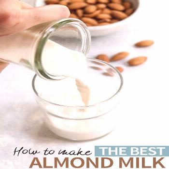 Once you try this homemade almond milk recipe, you won't be able to go back to the store-bought bra