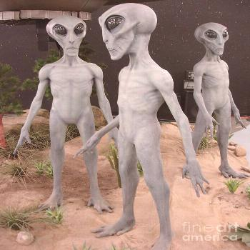 Painting - The Roswell Aliens by M D Artwork ,