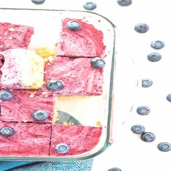 Paleo Ice Cream Bars with Berries - -
