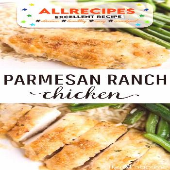 Parmesan Ranch Chicken - - Parmesan Crusted Chicken - Great weeknight meal that's made with just 5
