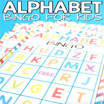 Printable Alphabet Bingo for Kids | From ABCs to ACTs Alphabet Bingo Game....a fun way to learn let