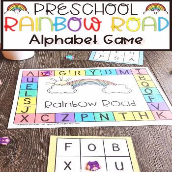 Rainbow Road Alphabet Game Looking for ways to have fun while you learning with your preschool or k