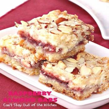 Raspberry Almond Bars   Can't Stay Out of the Kitchen   these irresistible are rich, decadent & abs
