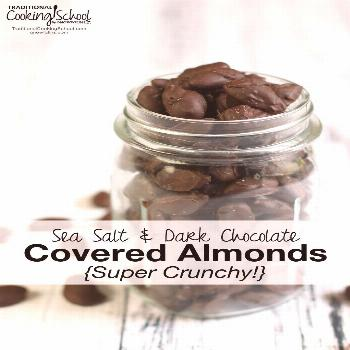 Sea Salt & Dark Chocolate Covered Almonds {Super Crunchy!} Sea Salt & Dark Chocolate Covered Almond