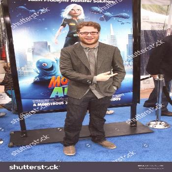 Seth Rogen at the Los Angeles Premiere of 'Monsters Vs. Aliens'. Gibson Amphitheatre, Universal Cit