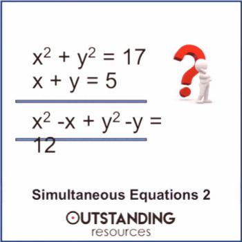 Simultaneous Equations 2 - Substitution Method (including Non Linear)
