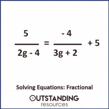 Solving Equations 2 - Solving Linear Equations including Fractional Equations