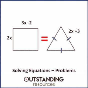 Solving Equations 3 - Forming and Solving Linear Equations (Solving Problems)